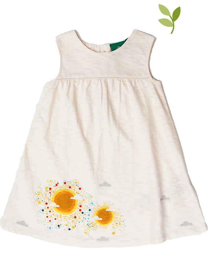 Little Green Radicals Sukienka w kolorze beżowym