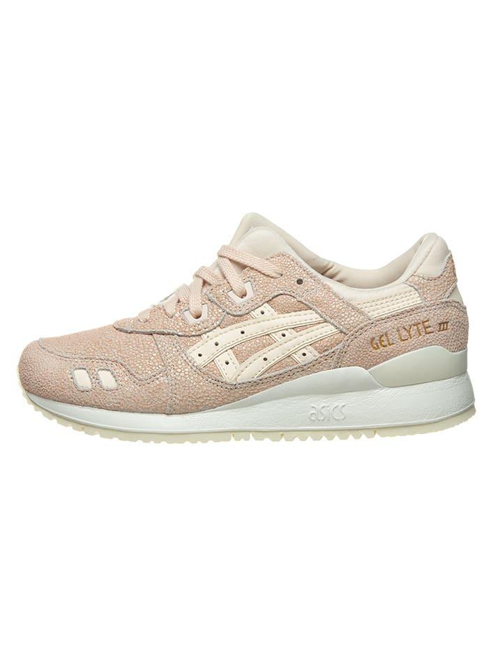 """Asics Skórzane sneakersy """"Gel Lyte III"""" kolorze szaroróżowym"""