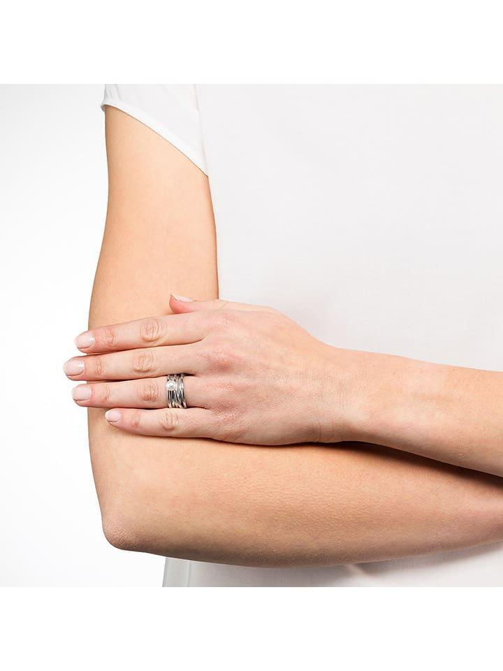 Steel_Art Ring met parel