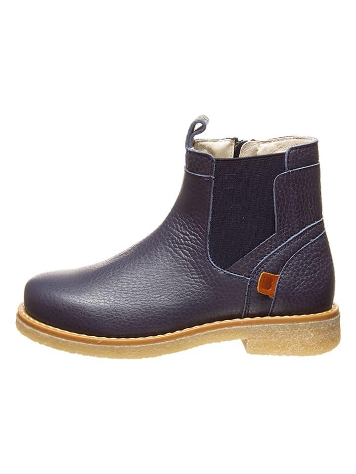 Leder-Chelsea-Boots in Dunkelblau