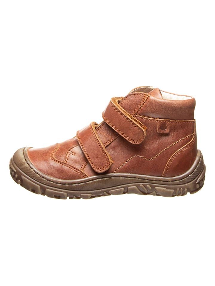 BO-BELL Leder-Ankle Boots in Braun