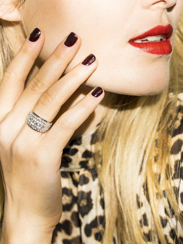 """DIAMOND & CO Złoty pierścionek """"Flower Explosion"""" z diamentami"""