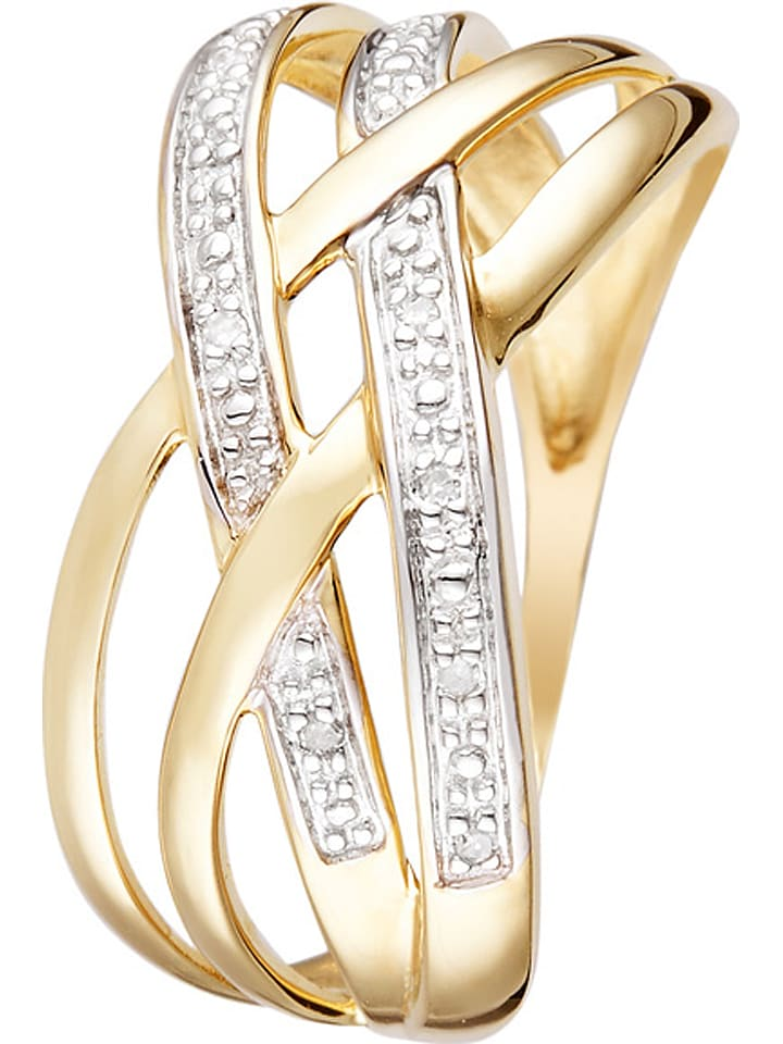 "DIAMOND & CO Gold-Ring ""Cayos"" mit Diamanten"