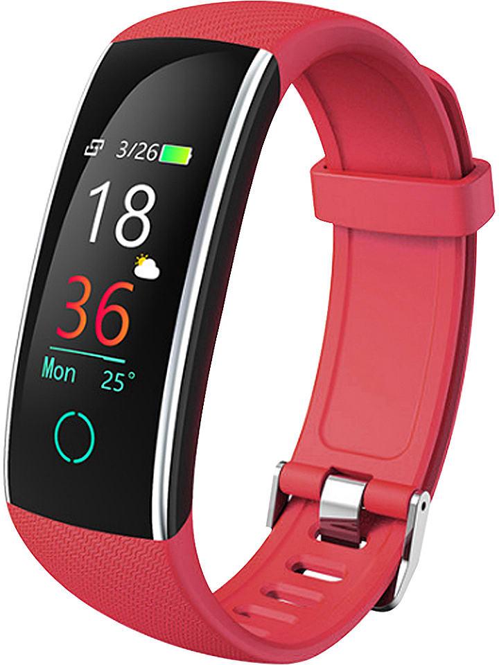 WHIPEARL Smartwatch w kolorze czerwonym