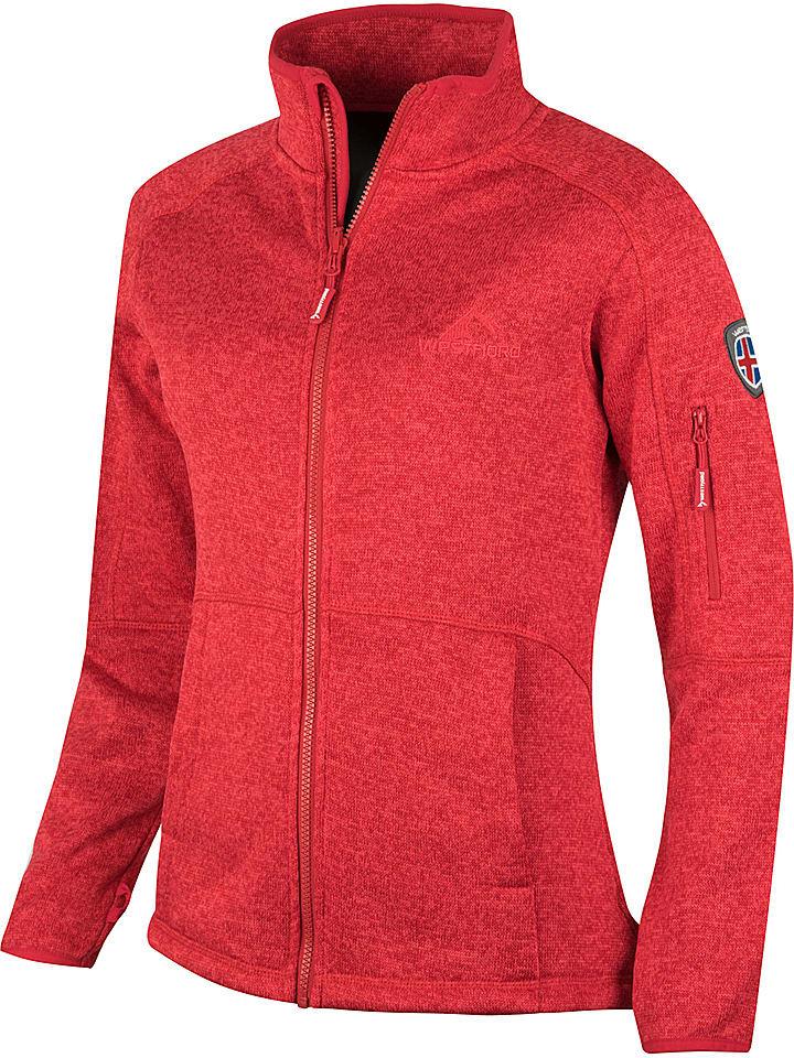 """Westfjord Kurtka polarowa """"Katla"""" w kolorze czerwonym"""