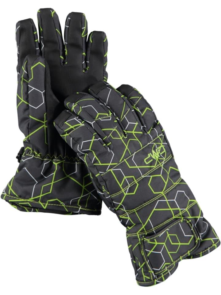 CMP Rękawiczki narciarskie w kolorze czarno-zielonym