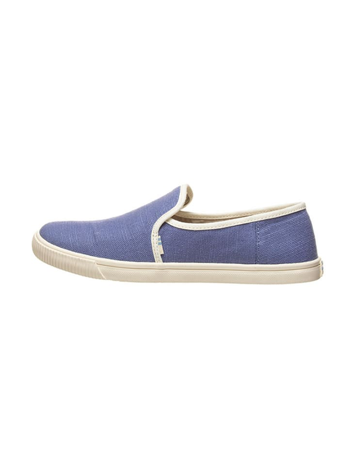"""TOMS Instappers """"Clemente - Heritage Canvas"""" lichtblauw"""