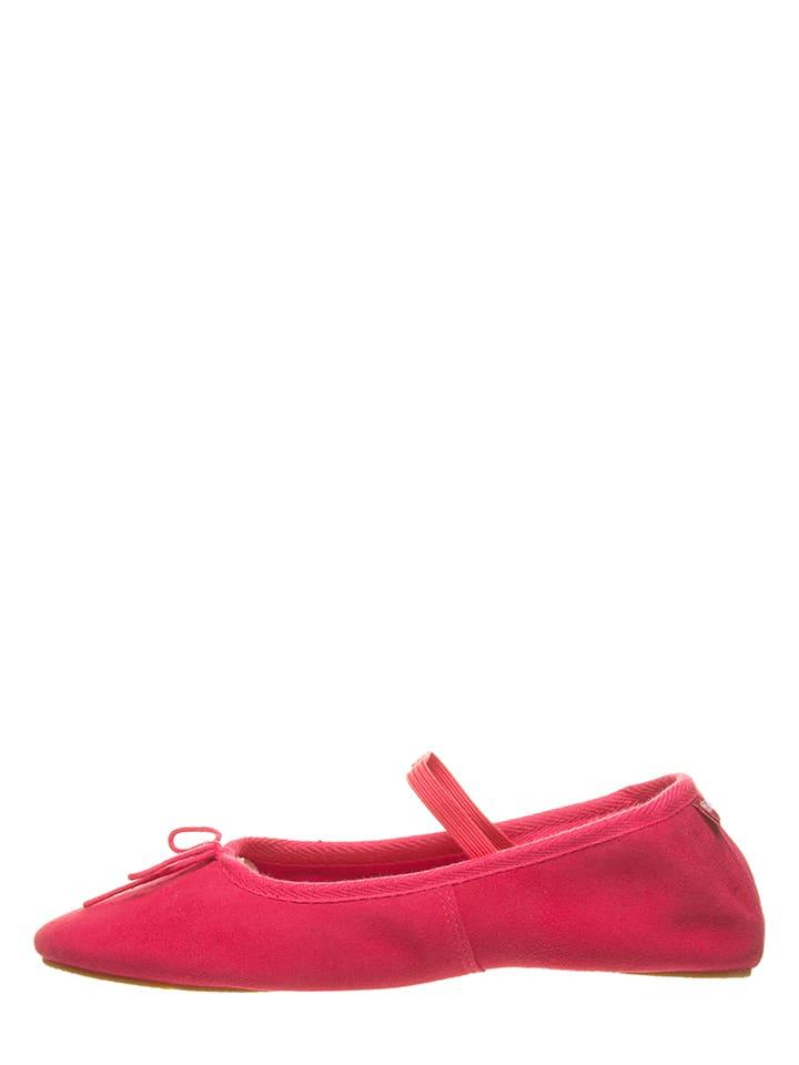 """Flip Flop Leder-Ballerinas """"Fine Ballet"""" in Pink"""