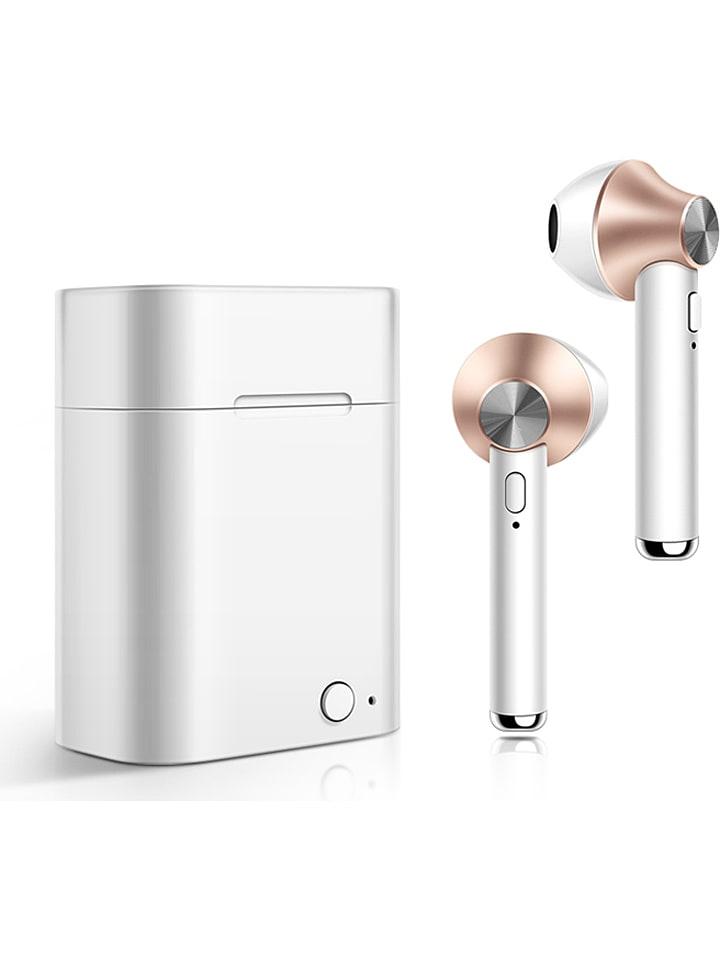 SmartCase Bluetooth-In-Ear-Kopfhörer in Silber/ Roségold