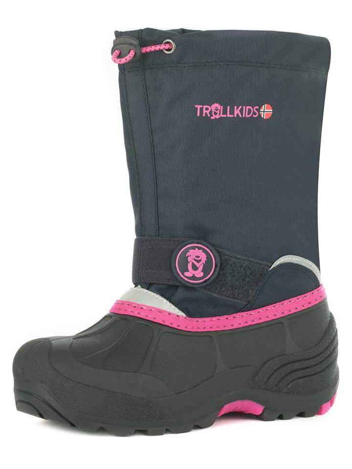 Trollkids Winterboots in Dunkelblau/ Pink