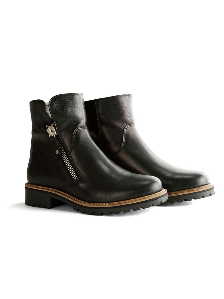 "Leder-Boots ""Vartae"" in Schwarz"