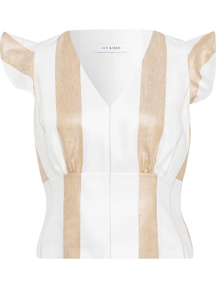 IVY & OAK Koszulka w kolorze biało-beżowym