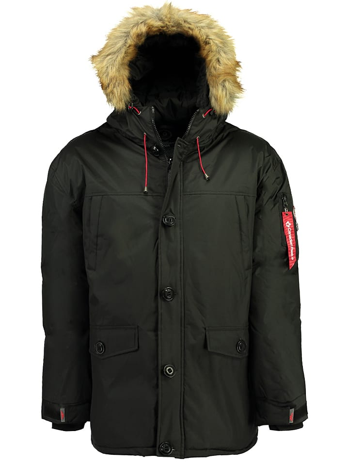 """Canadian Peak Winterjacke """"Antidote"""" in Schwarz"""