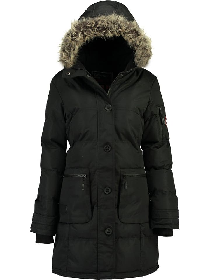 "Canadian Peak Wintermantel ""Axelus"" in Schwarz"
