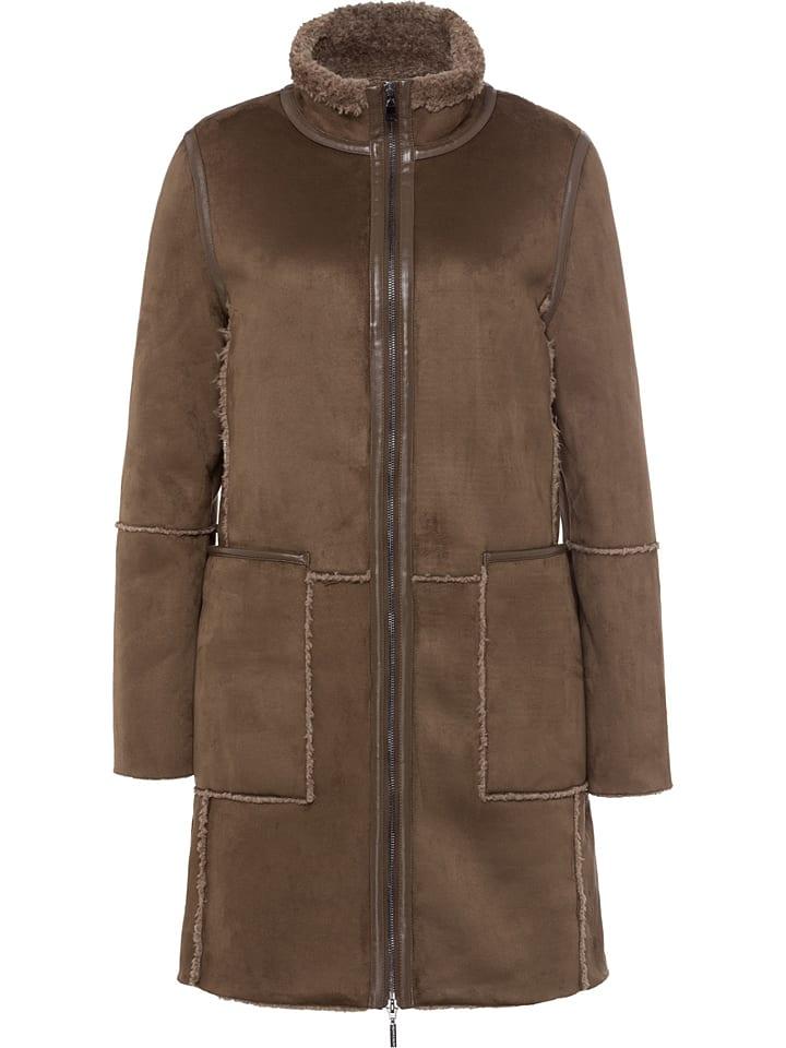 More & More Płaszcz przejściowy w kolorze brązowym