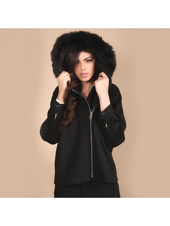 Chattawak Wollen jas zwart