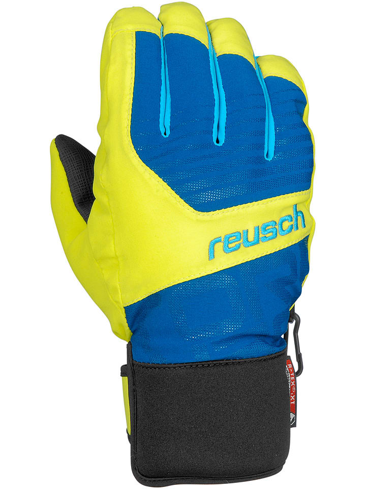 """Reusch Ski-/ Snowboardhandschuhe """"Torbenius R-TEX® XT Junior"""" in Gelb/ Blau"""