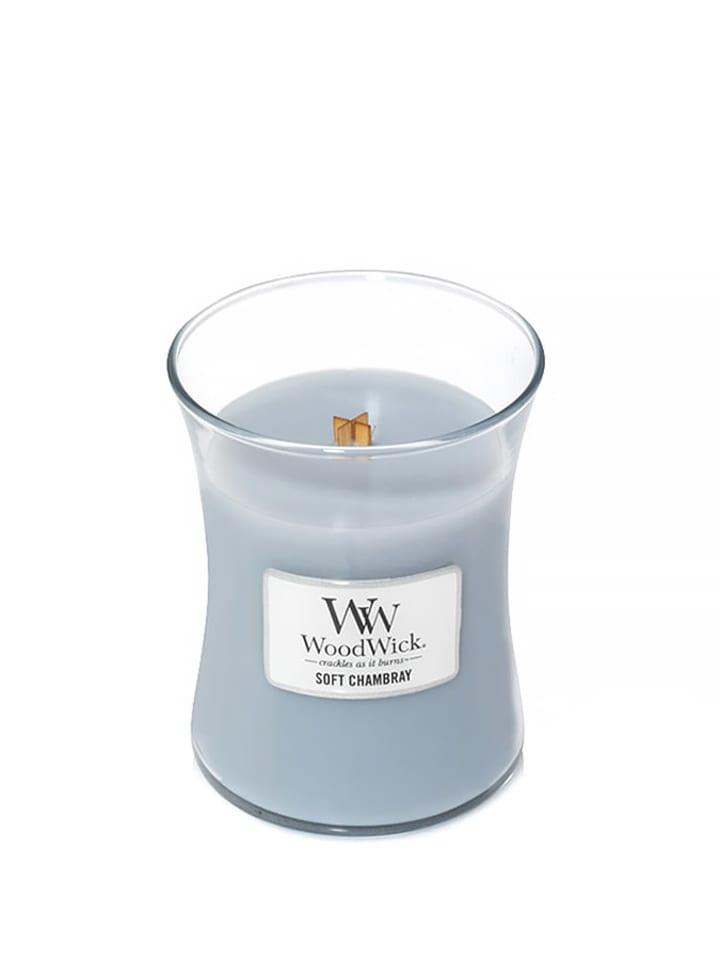 WoodWick Średnia świeca zapachowa - Soft Chambray