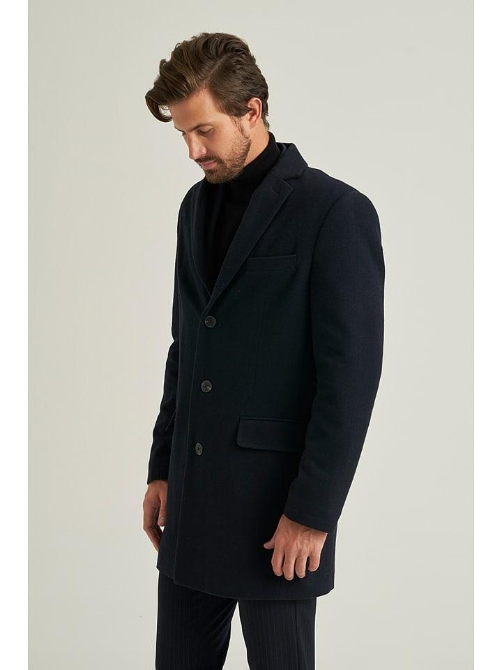 Mexx Wollen mantel donkerblauw