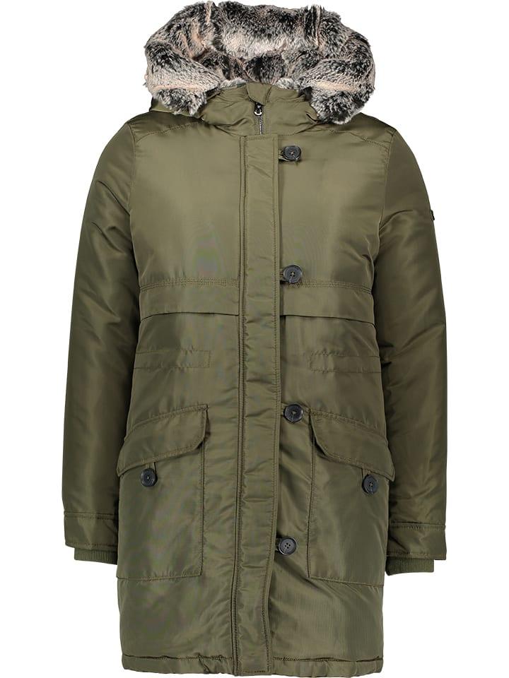 Tom Tailor Płaszcz zimowy w kolorze ciemnozielonym