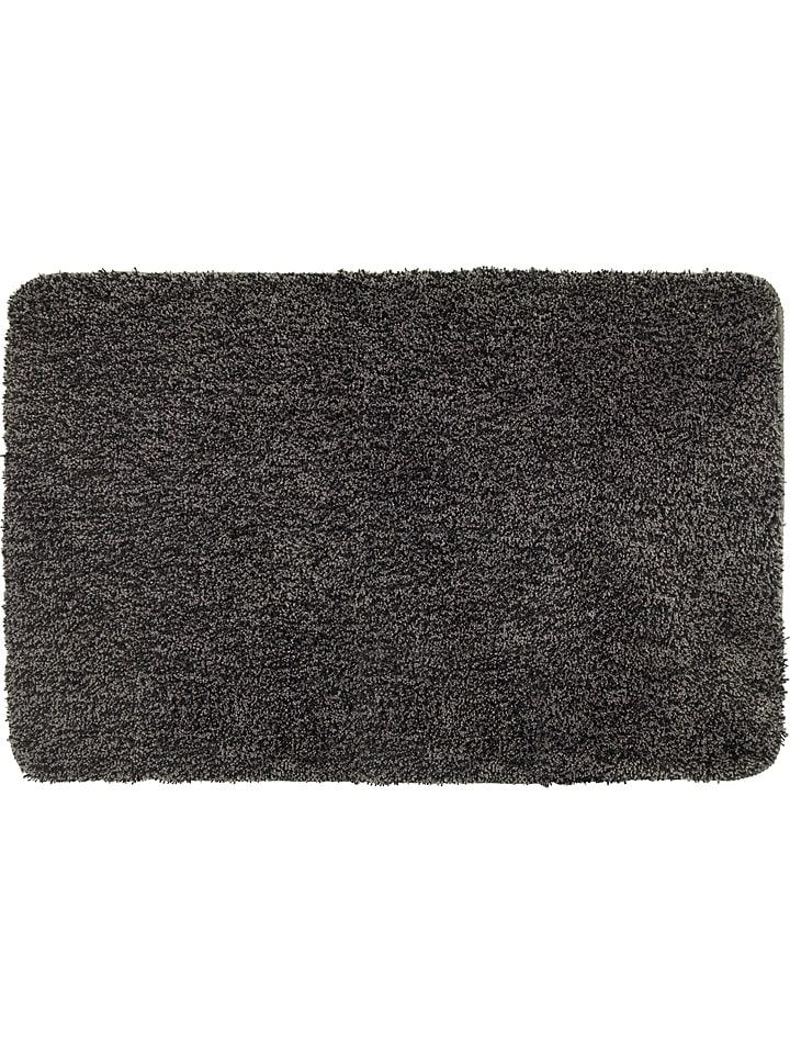 """Wenko Hoogpolige badmat """"Melangé"""" antraciet - (L)120 x (B)70 cm"""