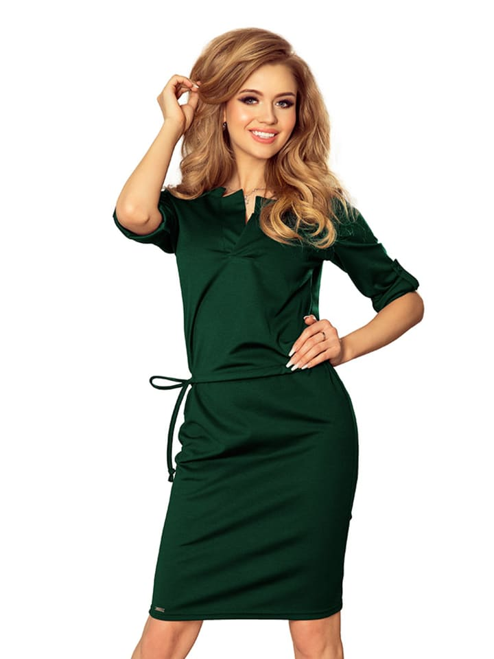 Numoco Sukienka w kolorze zielonym