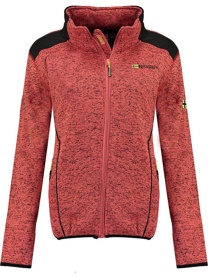 "Geographical Norway Fleece vest ""Tourbillone"" koraalrood"