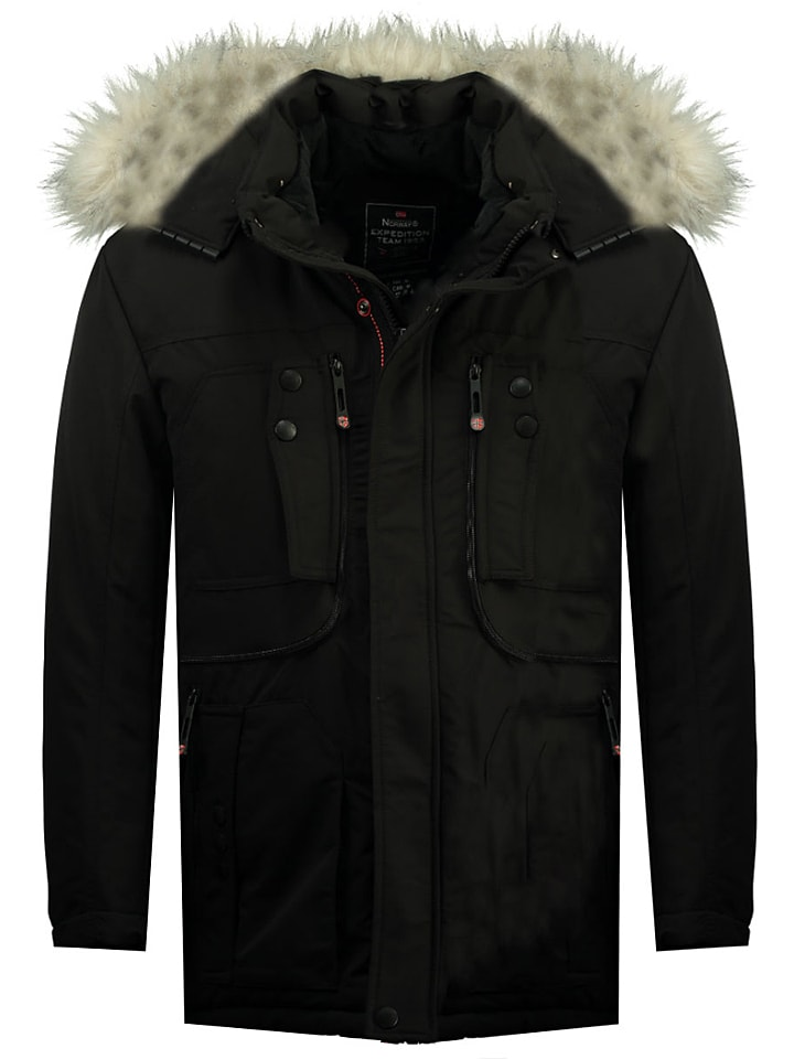 """Geographical Norway Parka """"Chalet"""" in Schwarz"""