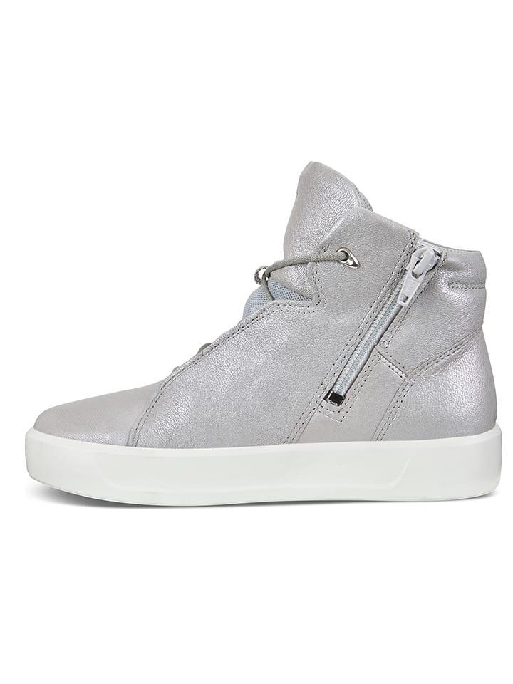 """Ecco Skórzane sneakersy """"S8 Concrete"""" w kolorze szarym"""