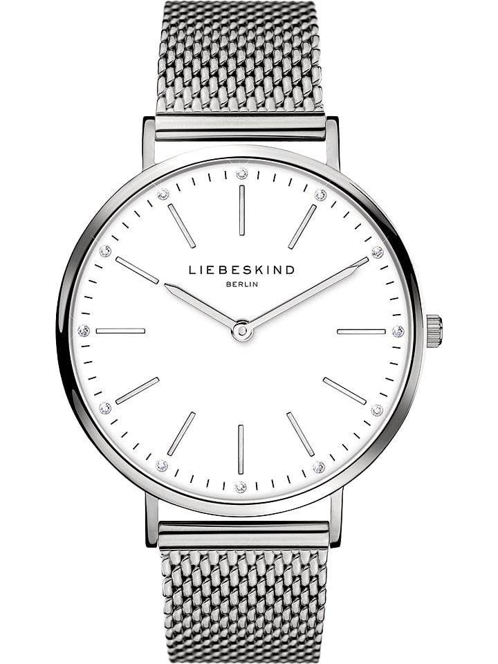 Liebeskind Zegarek kwarcowy w kolorze srebrno-białym