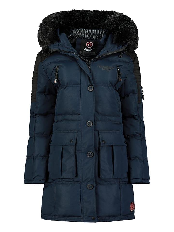 Canadian Peak Wintermantel donkerblauw