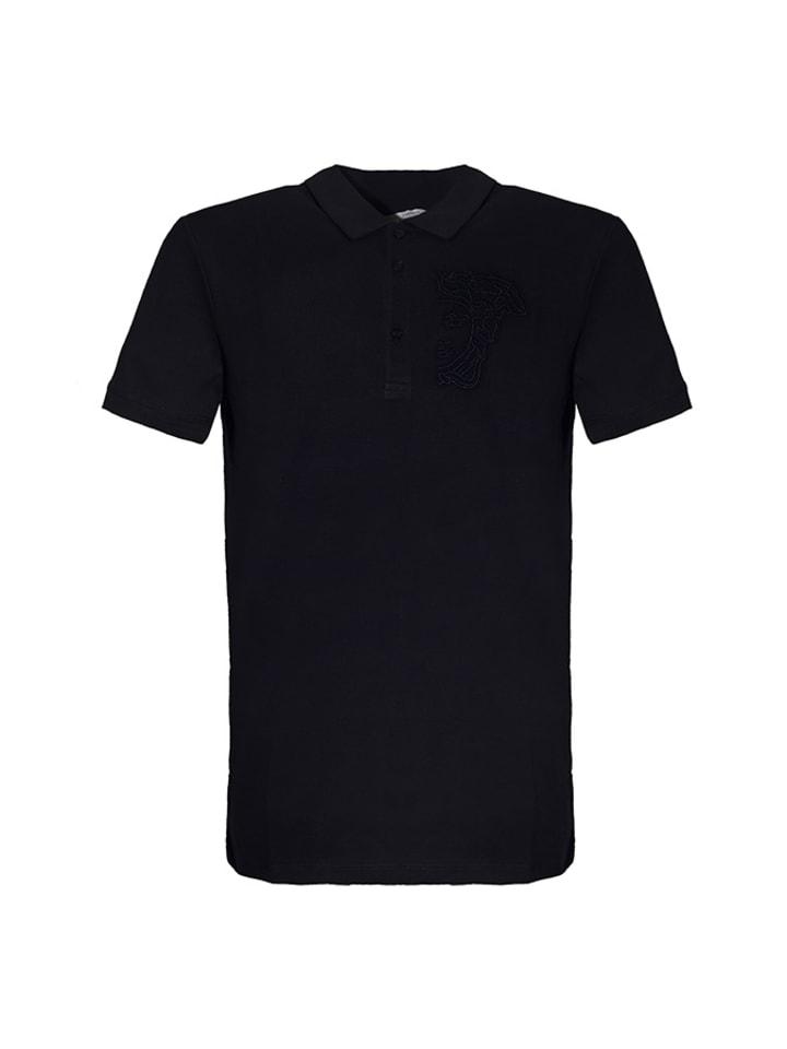 Trussardi Koszulka polo w kolorze ciemnoniebieskim