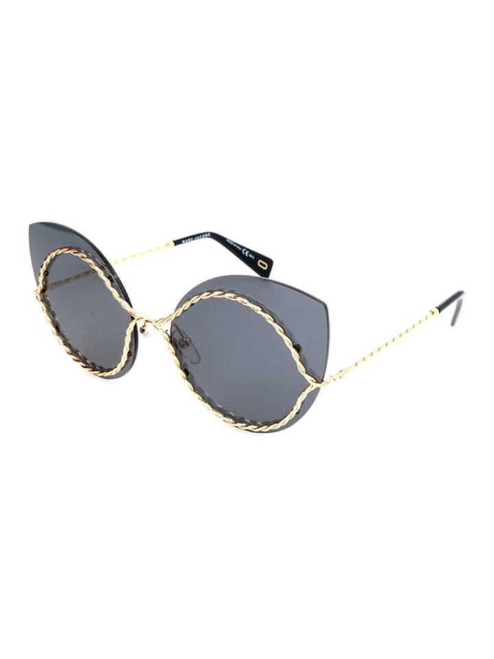 Damen-Sonnenbrille in Gold/ Grau