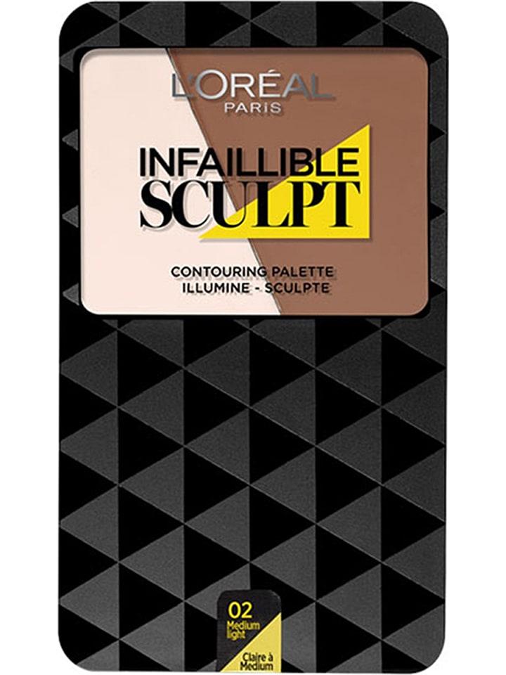 "L'Oréal Paris Paleta do konturowania ""Infaillible Sculpt - 02 Medium Light"" - 10 g"
