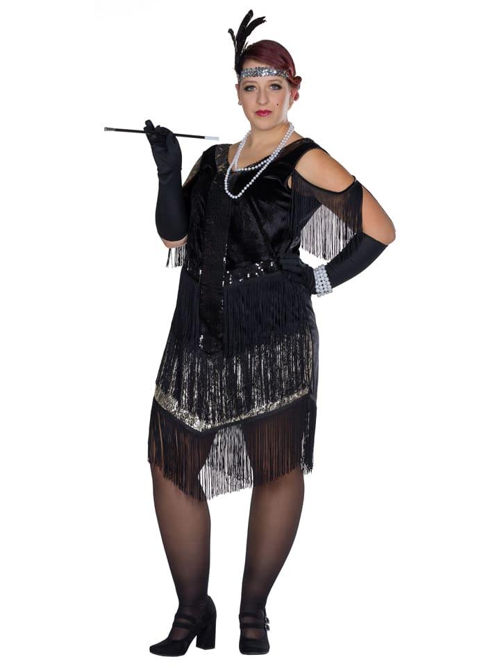 """Rubie`s Sukienka kostiumowa """"Charleston"""" w kolorze czarnym"""