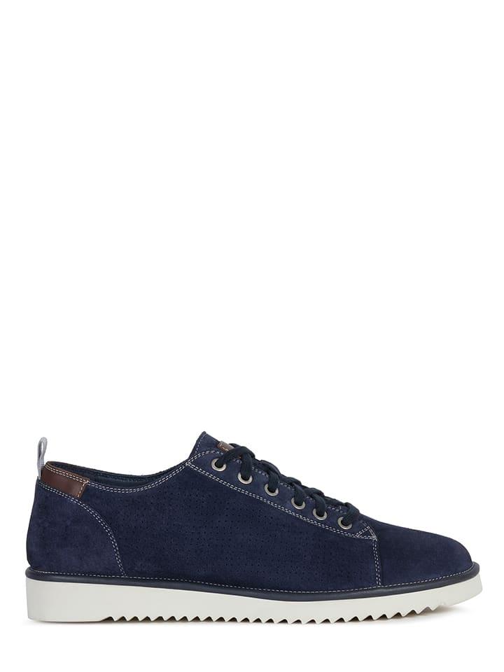 """Geox Leren sneakers """"Dayan"""" donkerblauw"""
