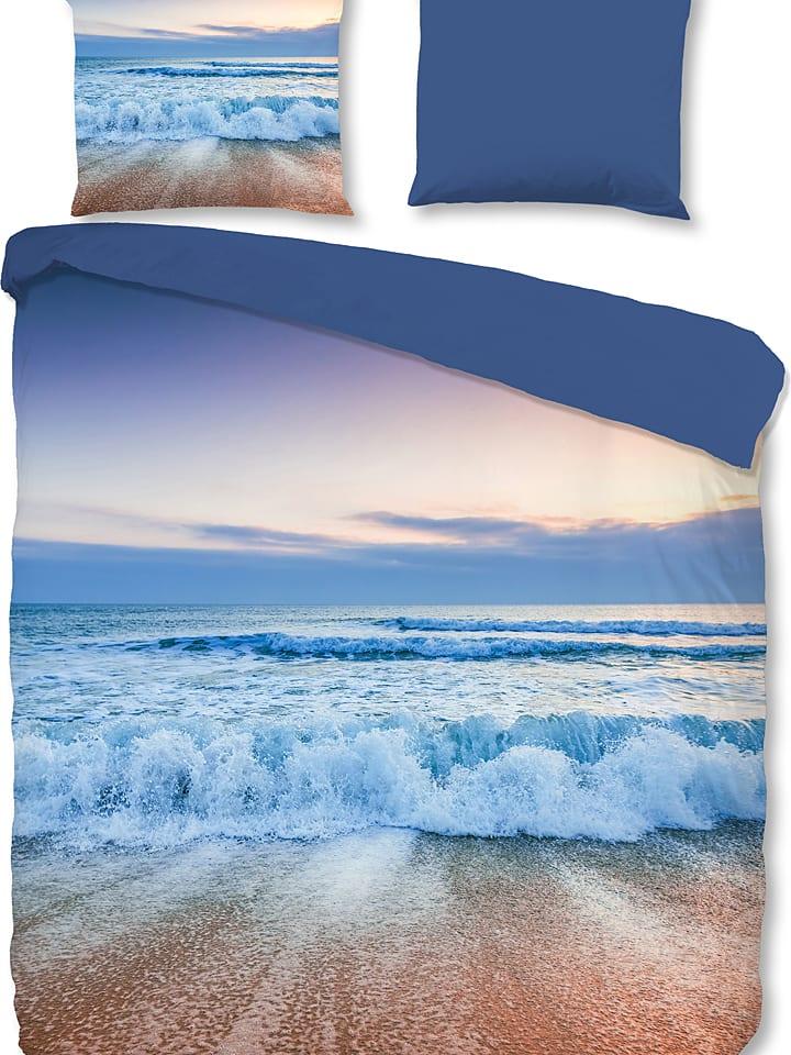 """Good Morning Komplet pościeli """"Blue Sea"""" w kolorze niebieskim"""