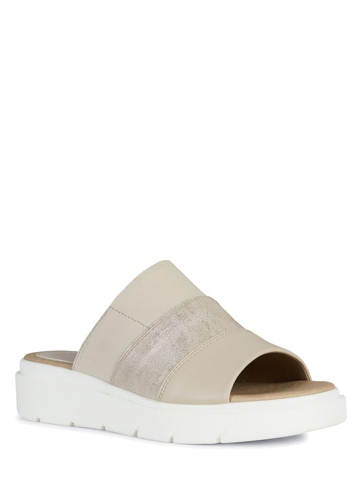 """Geox Slippers """"Tamas"""" beige"""