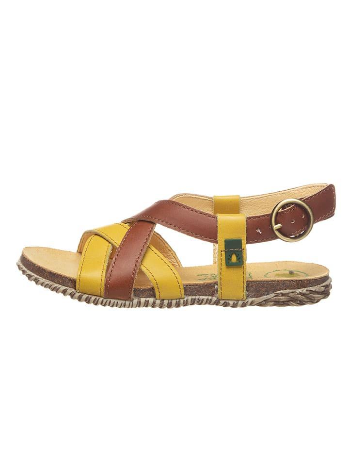 El Naturalista Skórzane sandały w kolorze brązowym