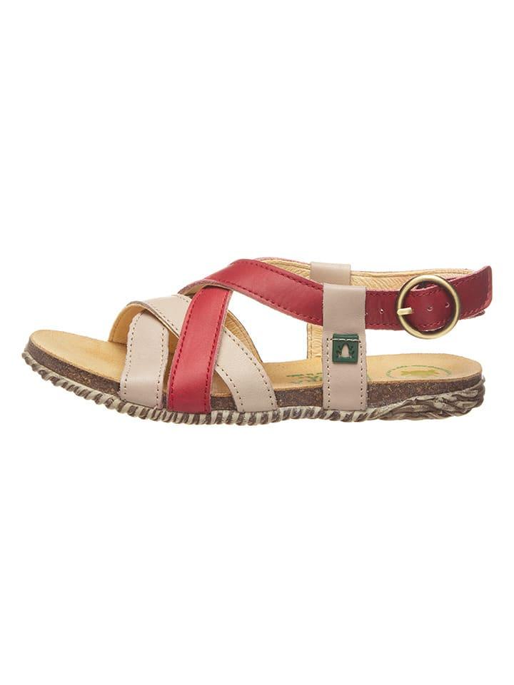 El Naturalista Skórzane sandały w kolorze czerwonym