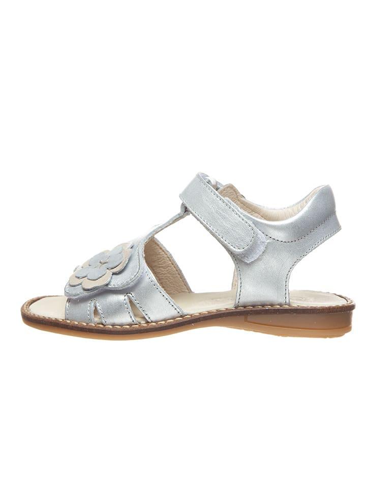 BO-BELL Leder-Sandalen in Silber