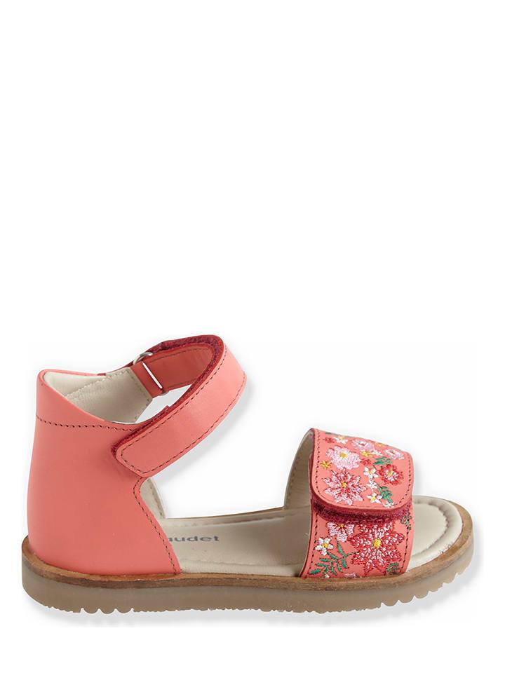 Vertbaudet Leren sandalen oranje