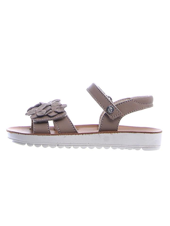 Naturino Leren sandalen taupe