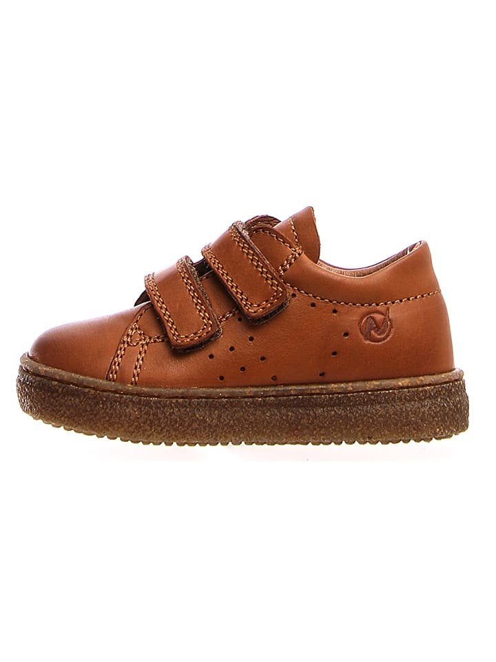 Naturino Leren sneakers cognackleurig