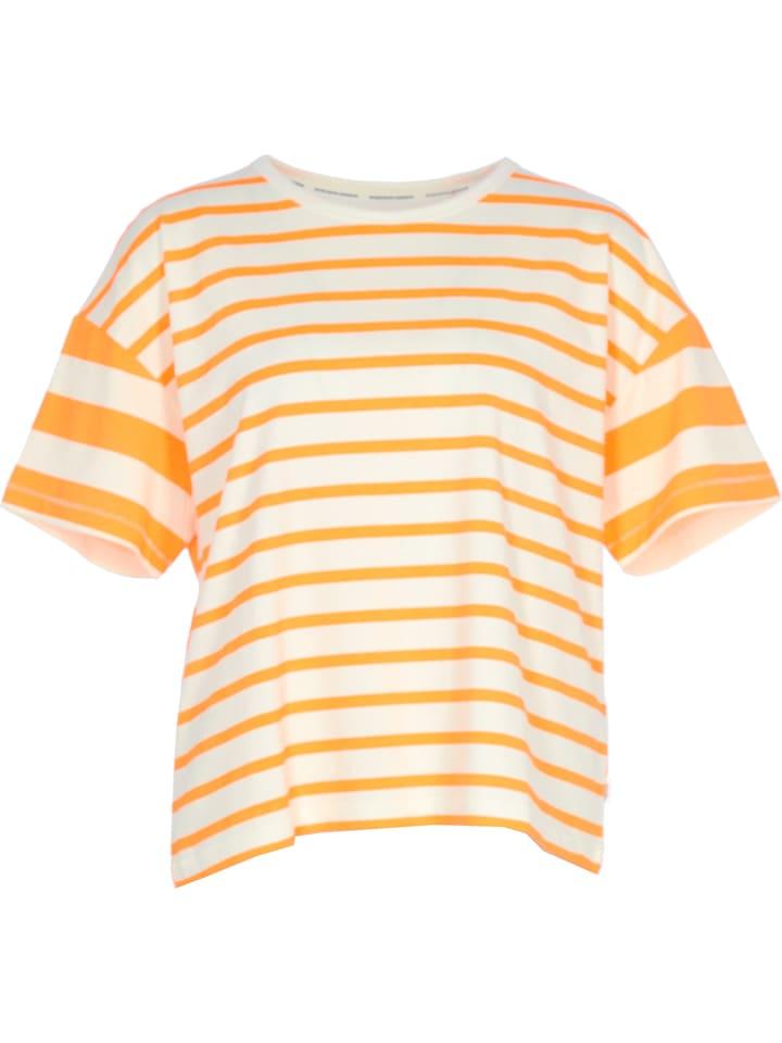 Marc O'Polo DENIM Shirt neonoranje/wit