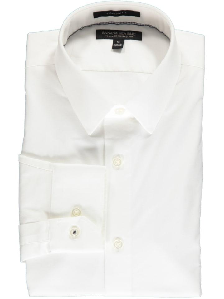 Banana Republic Hemd - Regular fit - in Weiß