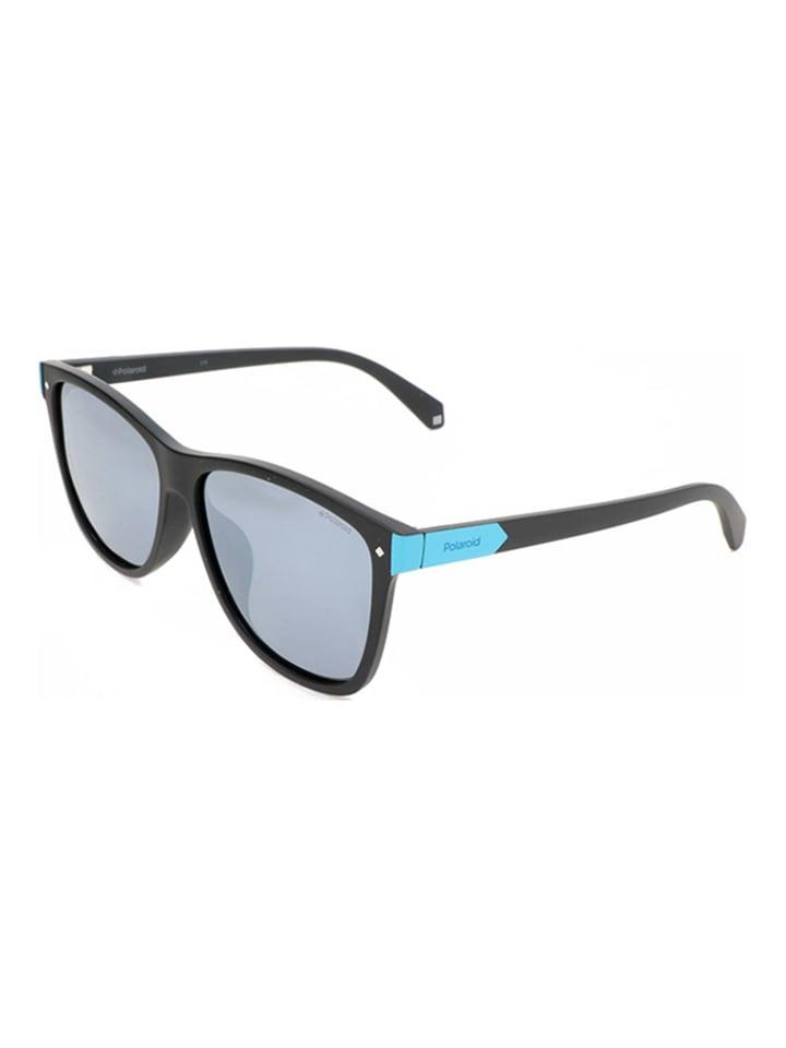 Polaroid Męskie okulary przeciwsłoneczne w kolorze czarno-szarym