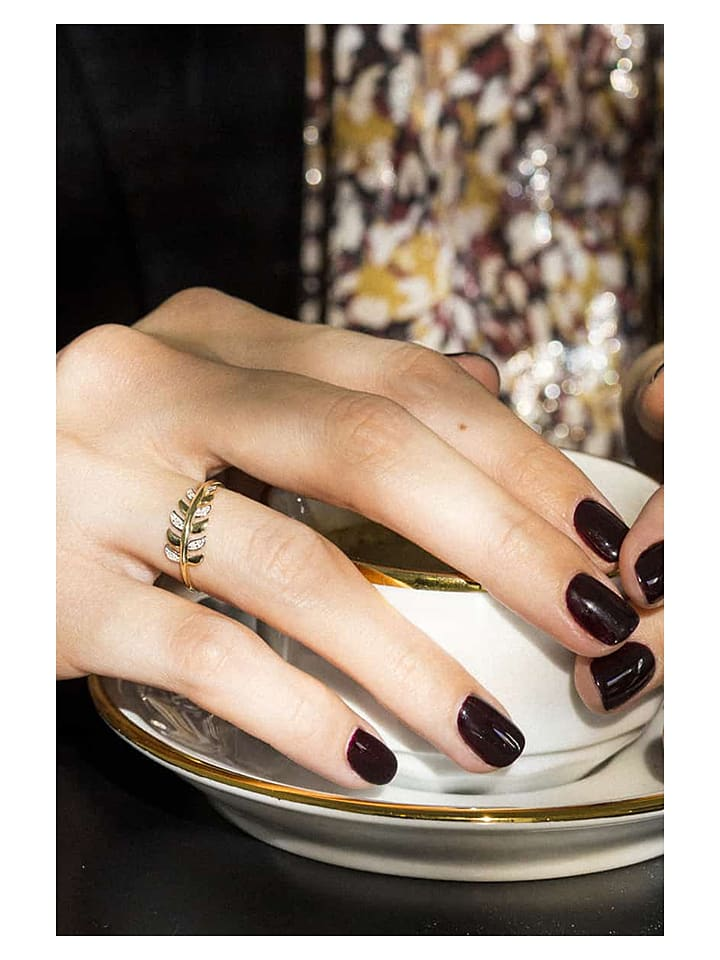 """Złoty pierścionek """"Gezira"""" z diamentami"""
