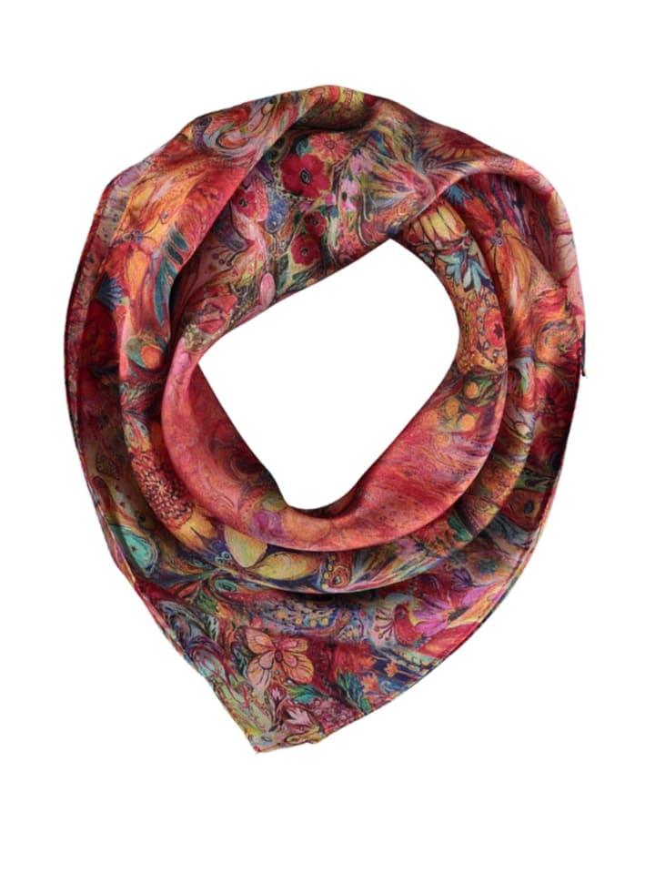 Made in Silk Jedwabna chusta ze wzorem - (D)52 x (S)52 cm