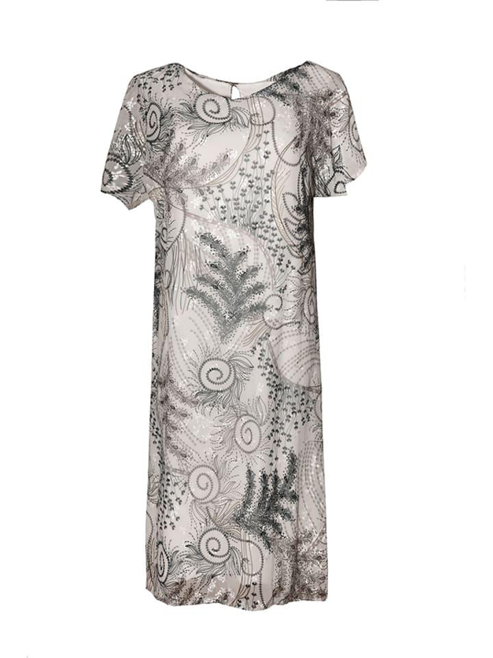 Tova Sukienka w kolorze kremowym ze wzorem